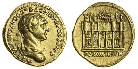 Trajan, gold Aureus, 98-117 (Spink)